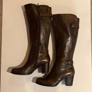 NWOT Born Brown Leather Knee High Boots